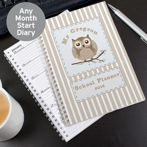 Personalised Woodland Owl A5 Diary